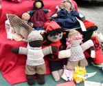 Sock dolls, Flip dolls, and one Folk Doll